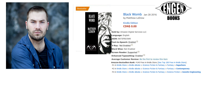 Black Womb becomes a #1 Superhero Bestseller on Amazon!
