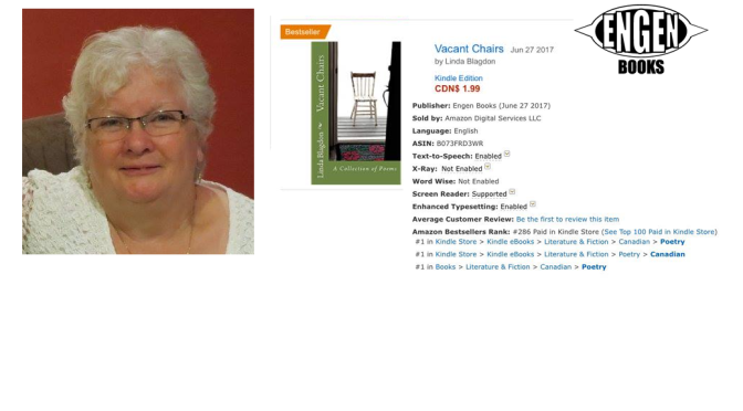 'Vacant Chairs' by Linda Blagdon becomes an Amazon #1 Bestseller!