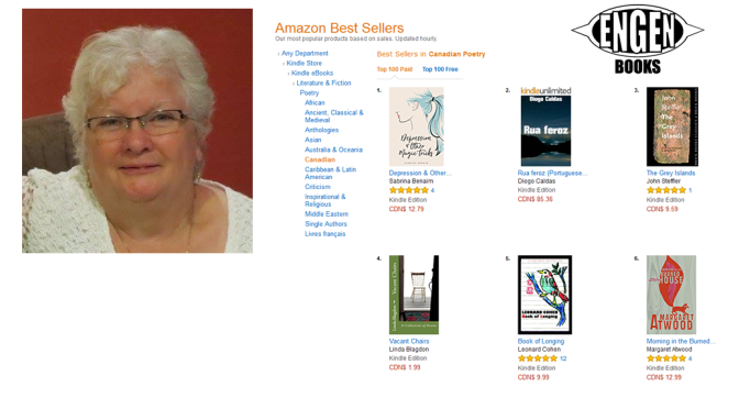 'Vacant Chairs' by Linda Blagdon reaches #4 on Amazon Canadian Poetry list!