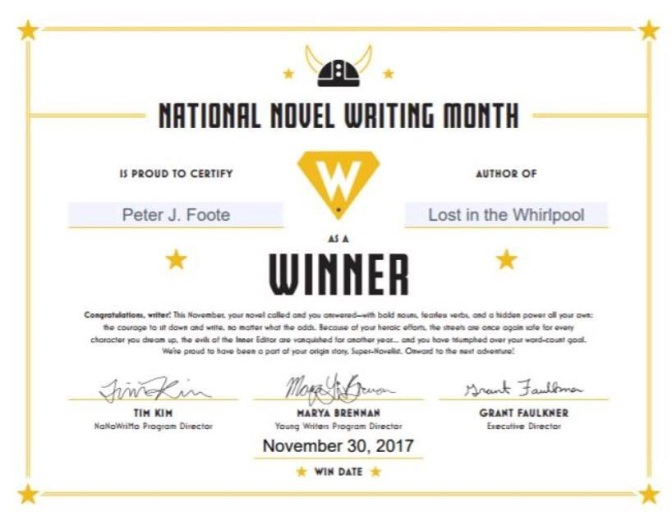 NaNoWriMo 2017 | Peter Foote Blog