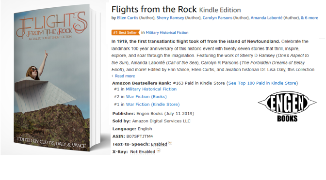 'Flights from the Rock' becomes Amazon Bestseller in multiple categories!
