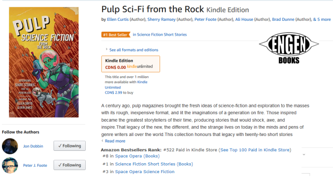 'Pulp Science-Fiction from the Rock' becomes Amazon Bestseller!