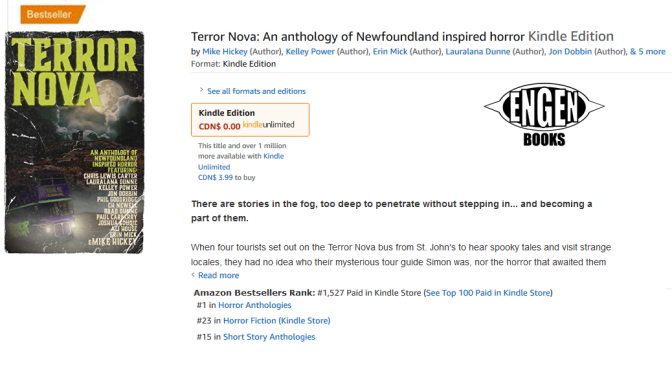 Terror Nova becomes #1 Bestseller on Amazon!